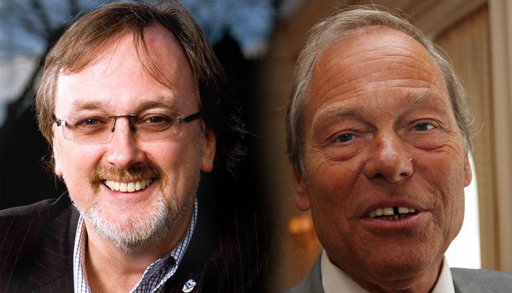STEILE FRONTER: Network Norways Tom Guldberg (t.v.) og PT-direktør Willy Jensen.