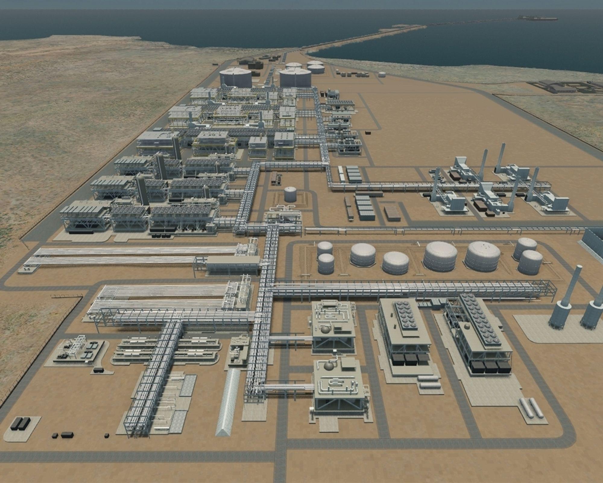 GORGON: Australias største gassprosjekt skal reinjesere fire millioner tonn CO2 årlig i et reservoar under LNG fabrikken. Utbygger er Chevron, Shell og ExxonMobil.