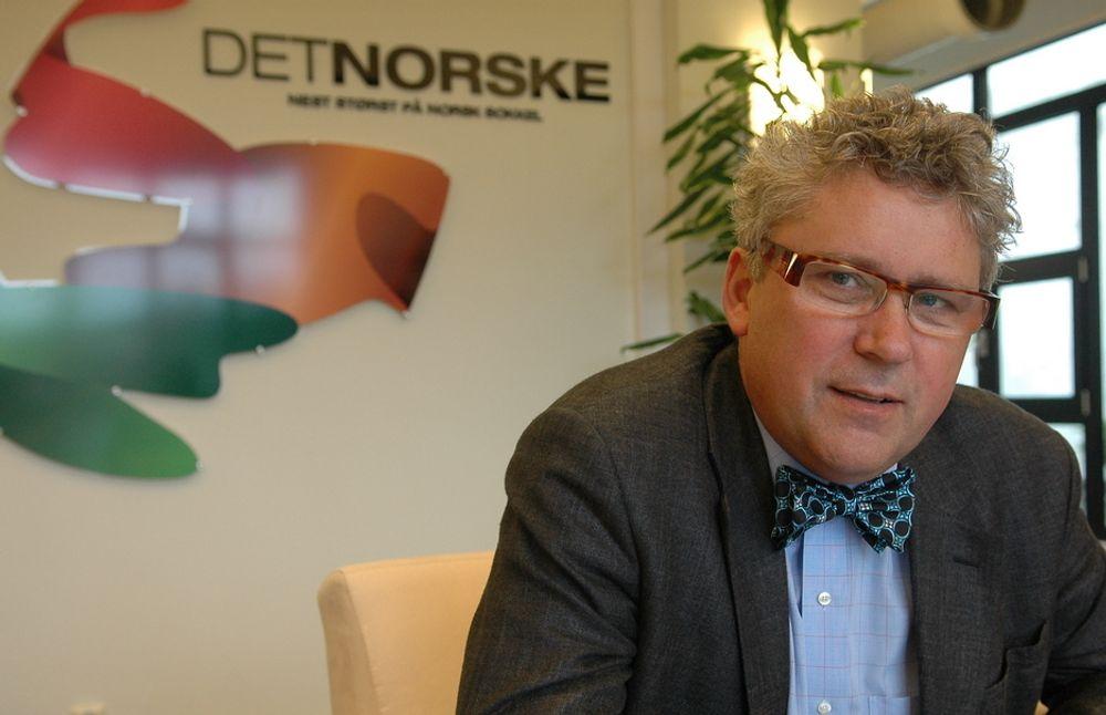 Det norske oljeselskap, her ved direktør Erik Haugane, var blant selskapene som i fjor betalte ut millionbonuser til tross for store underskudd.