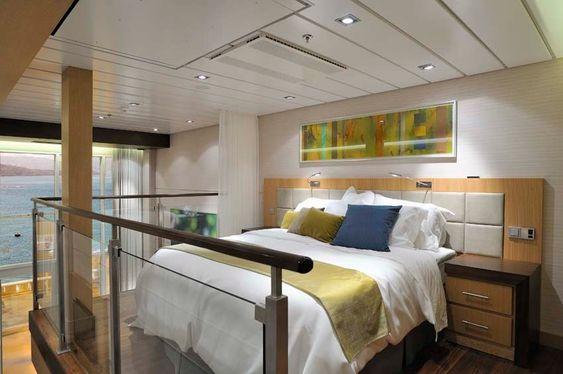 OVERSIKT: Senga i en suite om bord på Oasis of the Seas.