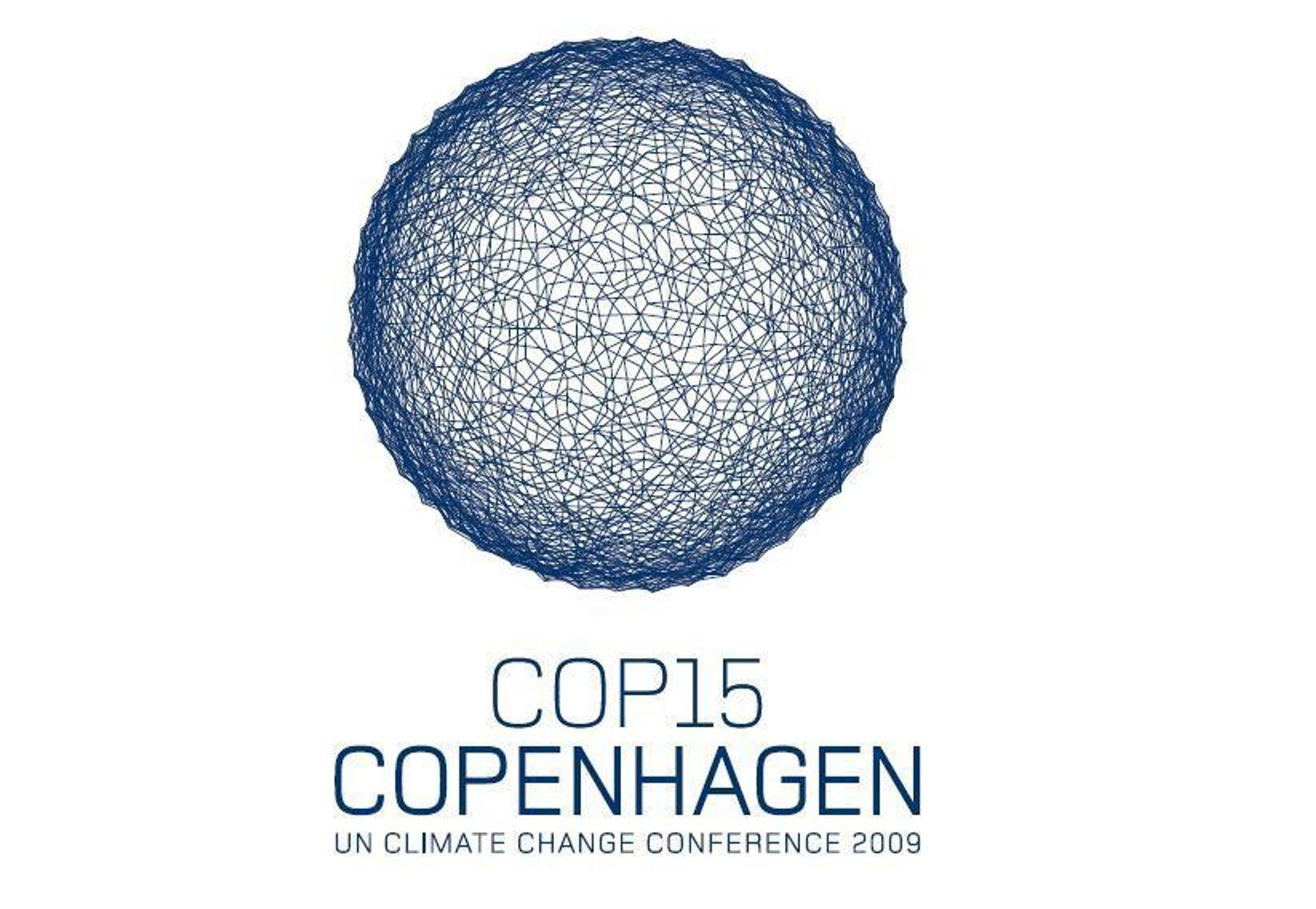 COP15 København klimaforhandlinger. Desember. Klimatoppmøte. Logo.