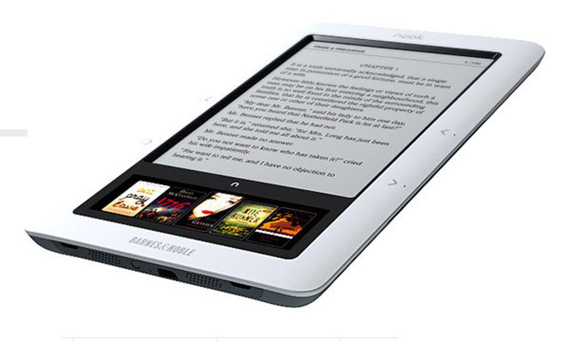 Nook har to skjermer, den ene er en trykkfølsom LCD-skjerm, den andre basert på elektronisk blekk.