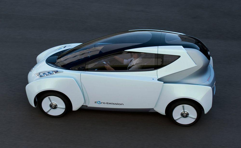 Ifølge Nissan gir konseptbilen Land Glider et frampeik på hvordan de ser for seg nullutslippsbiler i årene som kommer.