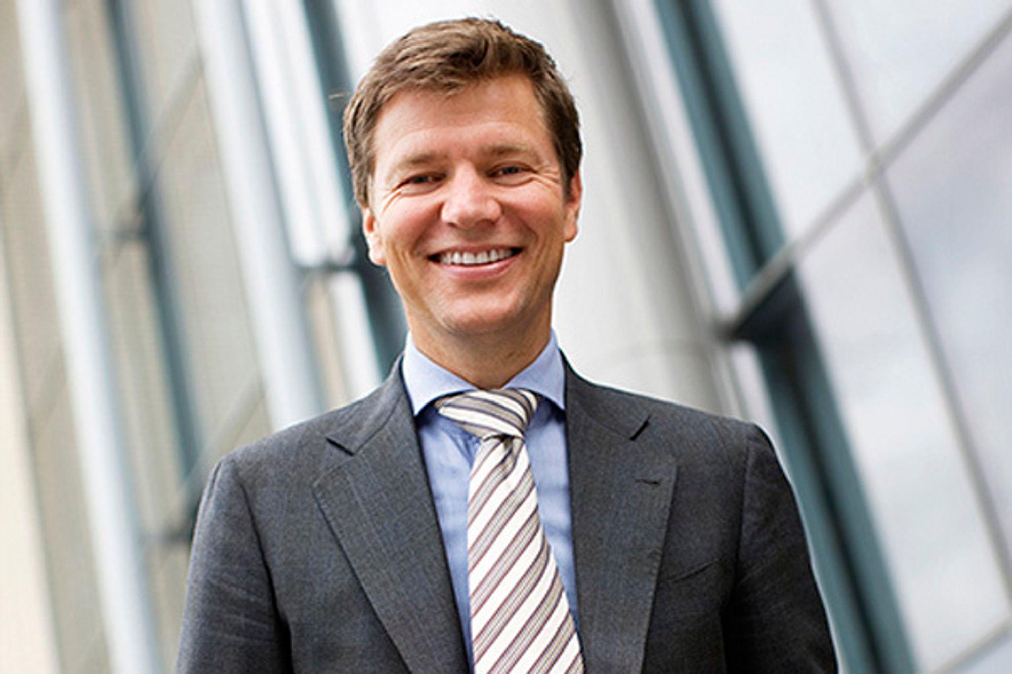 GLADGUTT: Adm. direktør Kjell André Engen i Capgemini Norge  har grunn til å smile over de gode norske tallene.