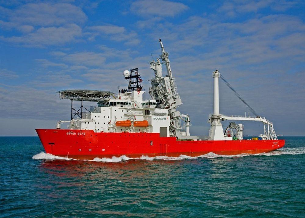 Subsea 7 leverer en rekke tjenester relatert til undervannsproduksjon. Seven Seas (på bildet) er et rørleggingsfartøy.