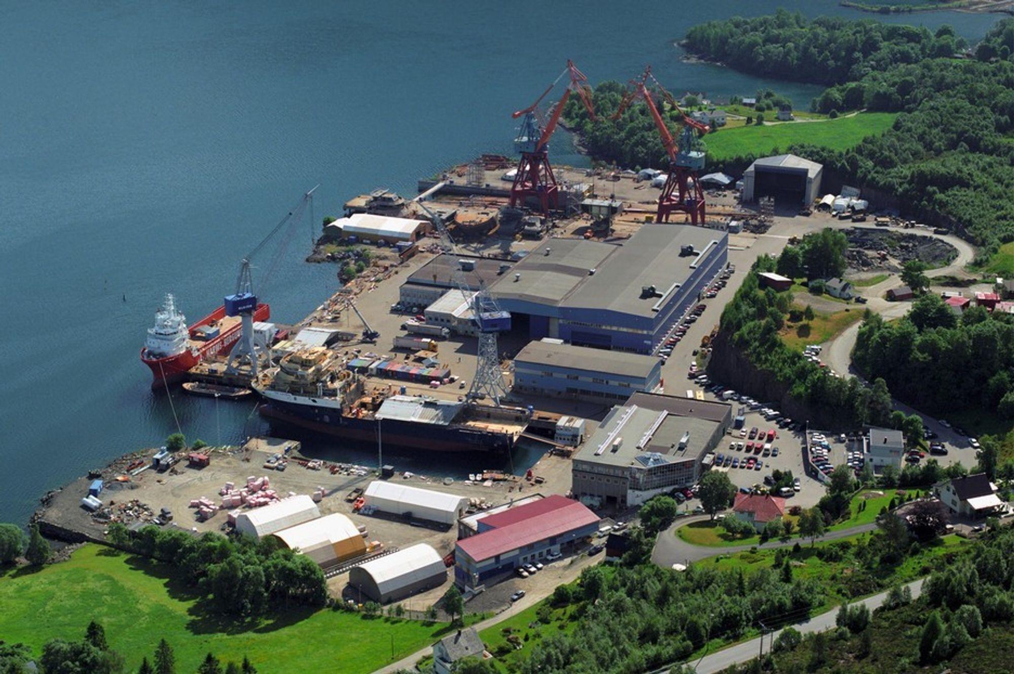 Kleven i Florø er et av verftene som må undersøke sjøbunnen utenfor verftet for miljøgifter.