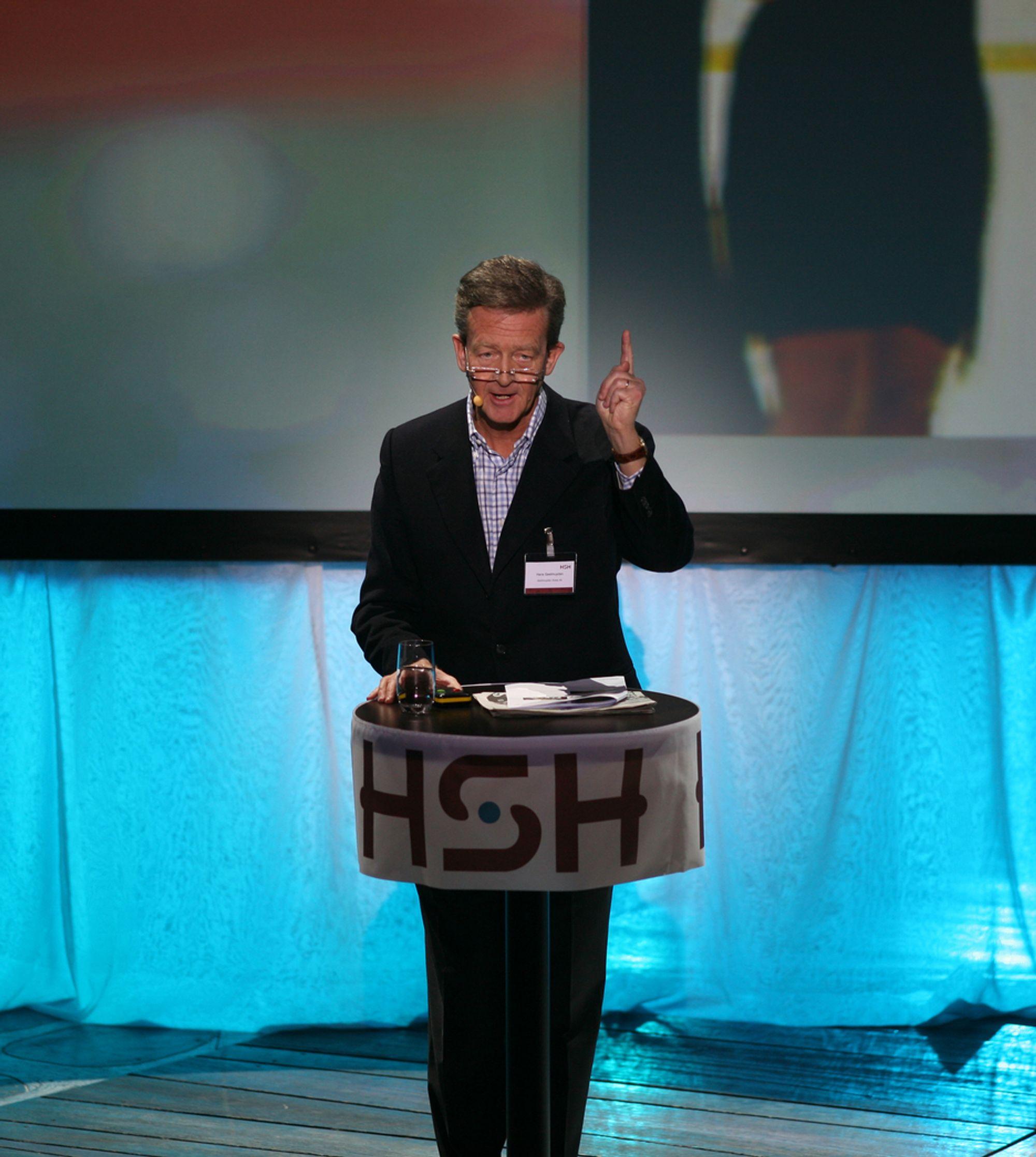 UTSPILL: Å klippe hår og slikt gir høy verdiskapning, mener Hans Geelmuyden.