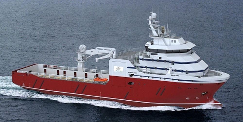 AVBESTILLER: GC Riber Shipping og partner kansellerer to PSV-skip av typen MT 6009 MkII. Skipene er på  74,87m og dwt på ca. 3.100. De er under bygging ved Batamec Shipyard i Indonesia.