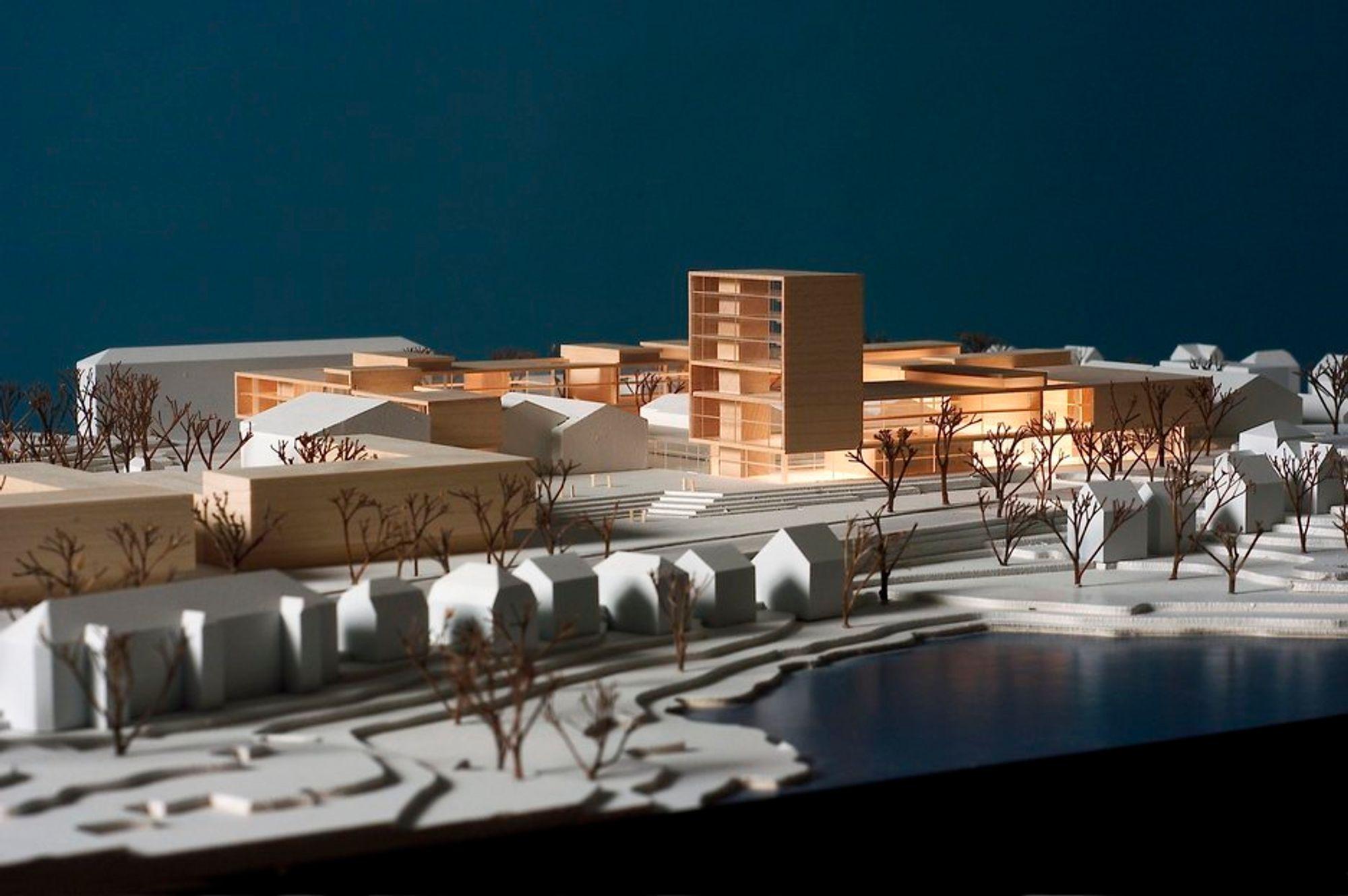 KRISESKOLE: Det måtte en krise til før regjeringen fant midler til å oppgradere Høgskolen i Bergen. Slik ser arkitektene for seg at høskolen blir når den er ferdig.