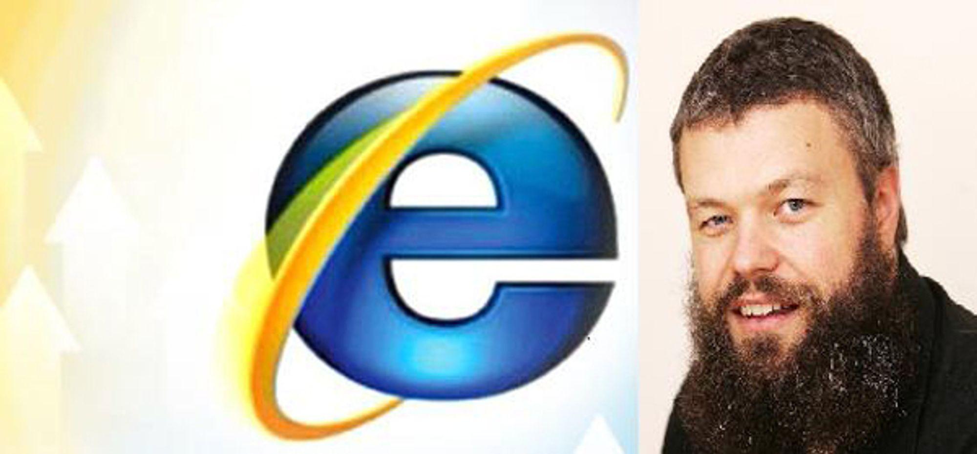 STØTTER KAMPANJEN: Også IKT-Norge og Torgeir Waterhouse (innfelt) vil ha bort Internet Explorer 6.