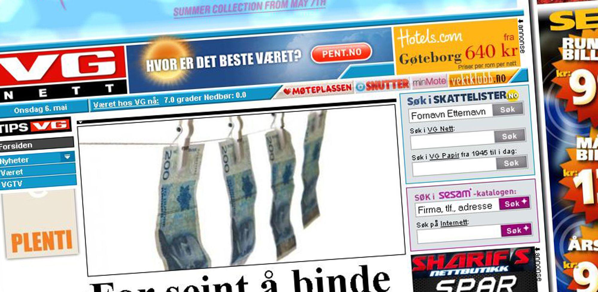 HACKET: Norges største nettsted ble offer for datakriminelle i går.