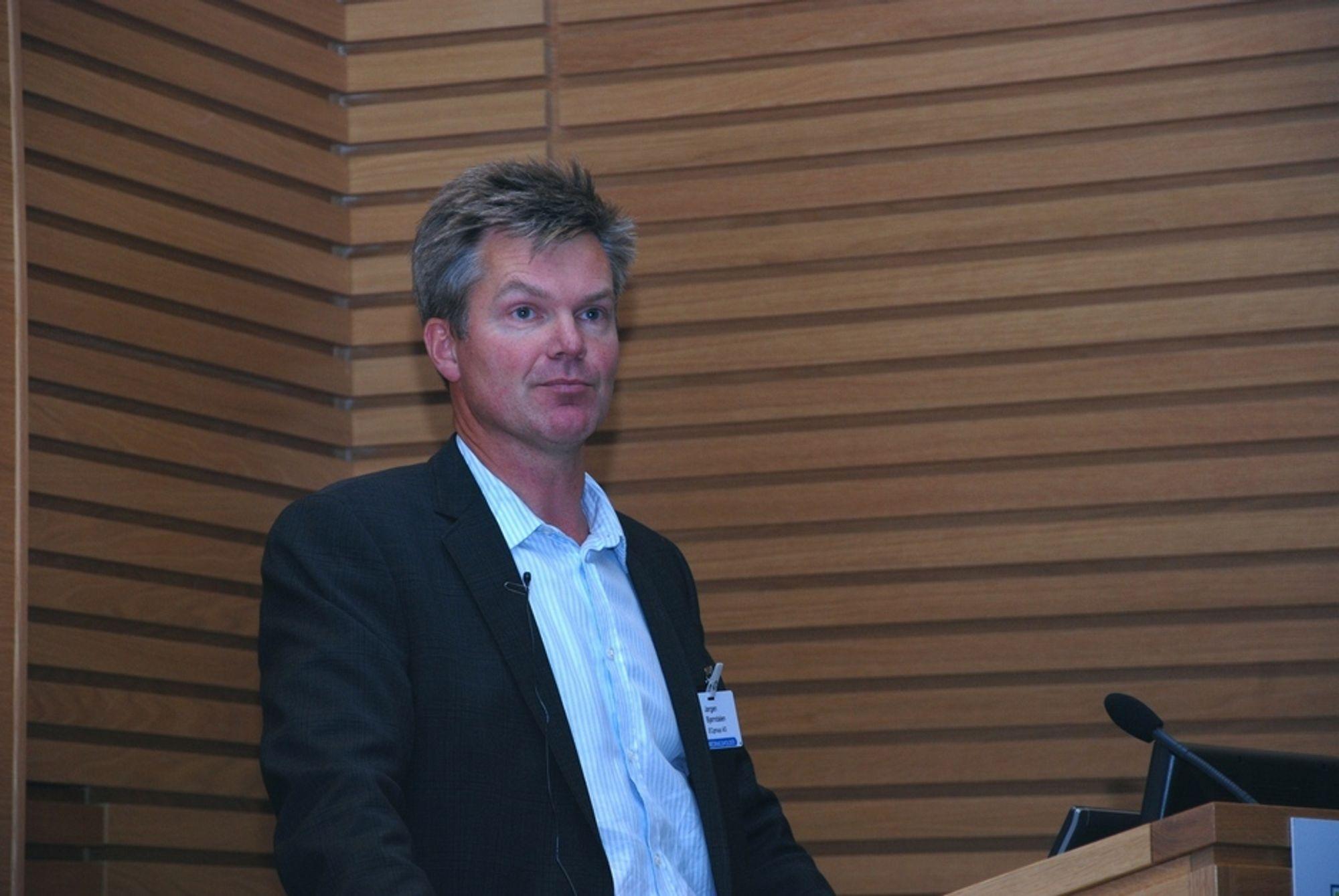 KALD VIND I BLODET: Siviløkonom og rådgiver Jørgen Bjørndalen kom torsdag med fem grunner til å glemme vindkraften. Per i dag er det mye som gjør norsk vindkraft enormt dyr, mener han.