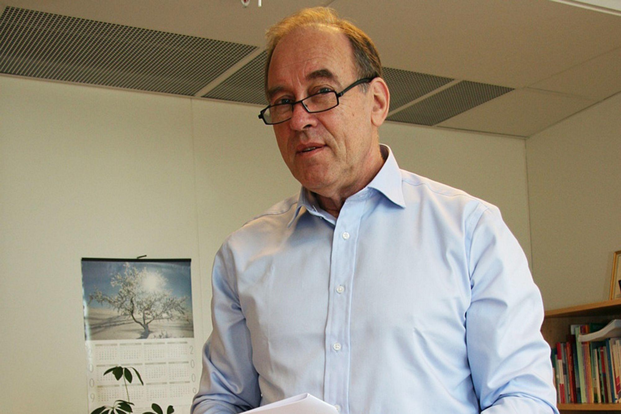 FOR MANGE: Administrerende direktør Harald Eriksen i Arkitektbedriftene mener næringen hadde for mange ansatte.