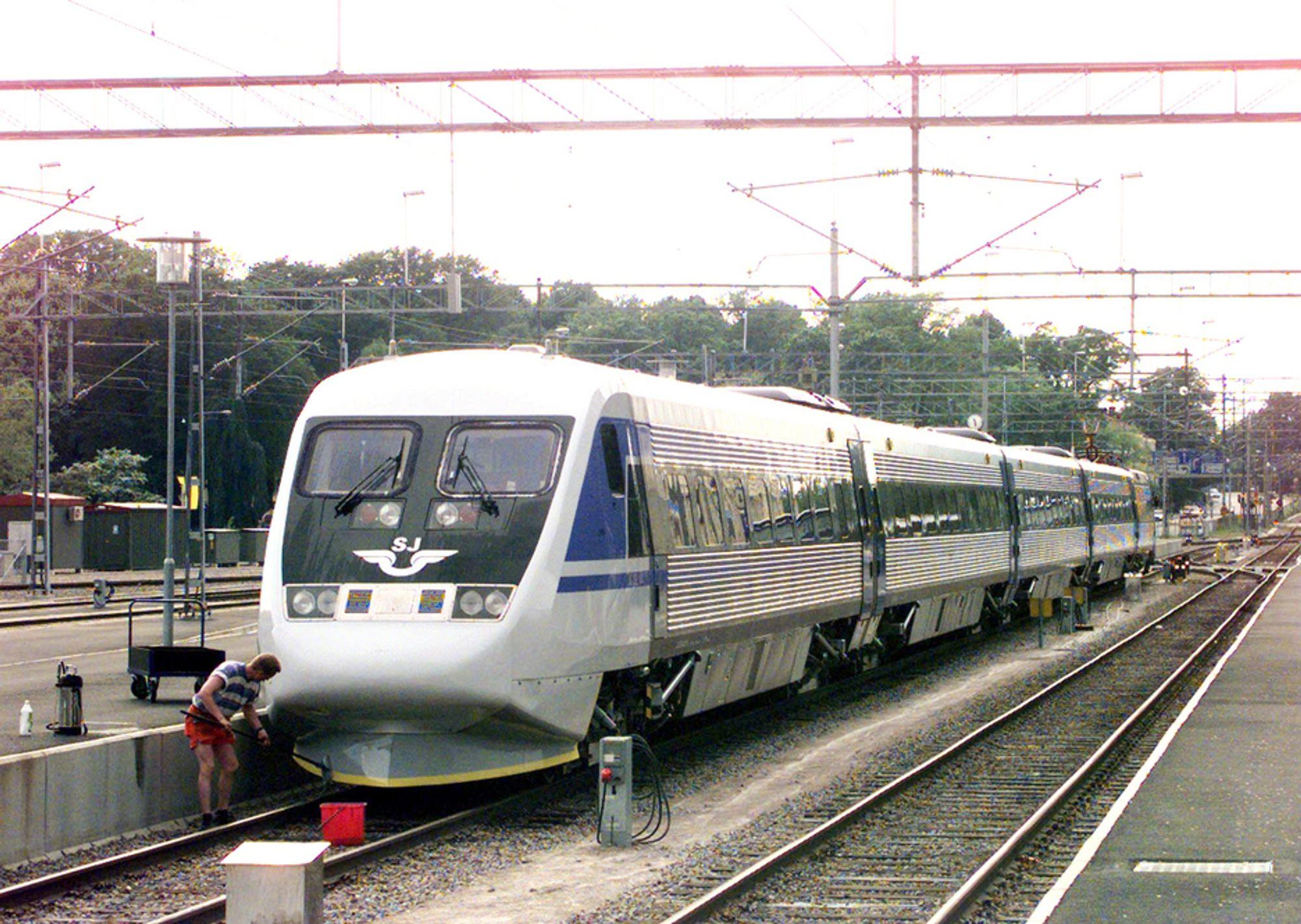 MILJØ-NEI: Ekspertvurderinger taler mot høyhastighetstog mellom Stockholm og Gøteborg.