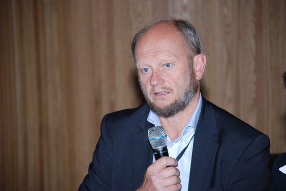Stein Lier-Hansen Norsk Industri. Bildet er tatt da Fornybaralliansen la fram ni krav til politikerne i august 2009.