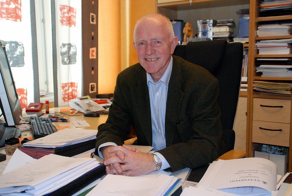 SCORER PÅ PR: Statsbygg, her representert ved administrerende direktør Øivind Christoffersen, kommer meget godt ut av en undersøkelse om bedrifters kommunikasjonsarbeid.