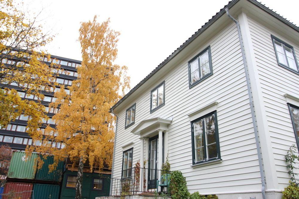 STATENS BYGG: Duehaugveien 10, bolighus på 356 kvadratmeter bygget i 1949, eies av staten. I bakgrunnen N. H. Abels hus, har samme eier.
