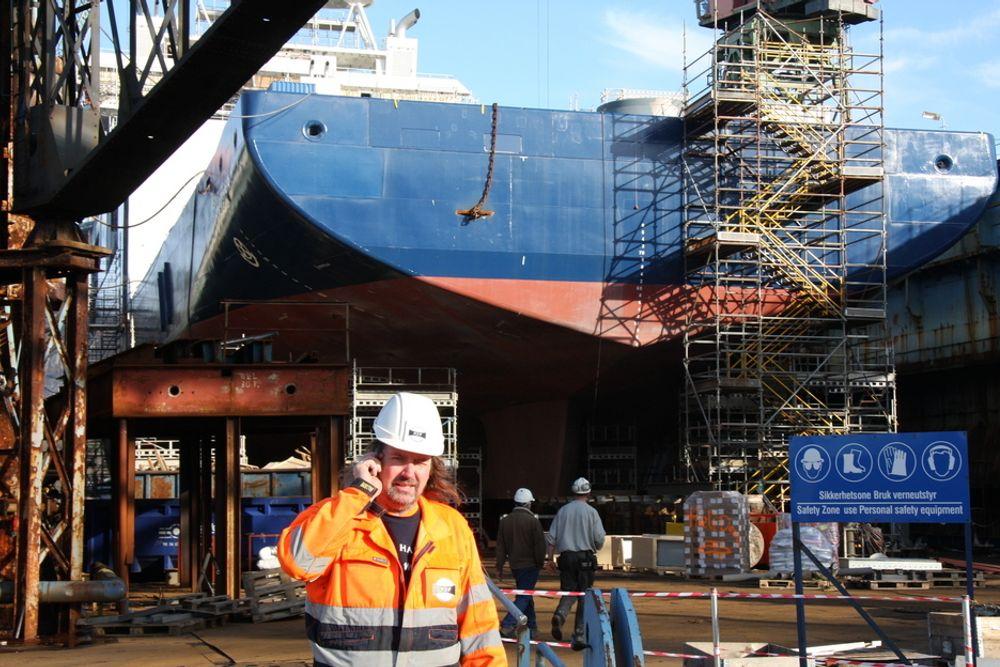 I BERGEN: Utrusting og ferdiggjøring av offshoreskip skjer blant annet ved Bergen Groups anlegg på Laksevåg i Bergen.