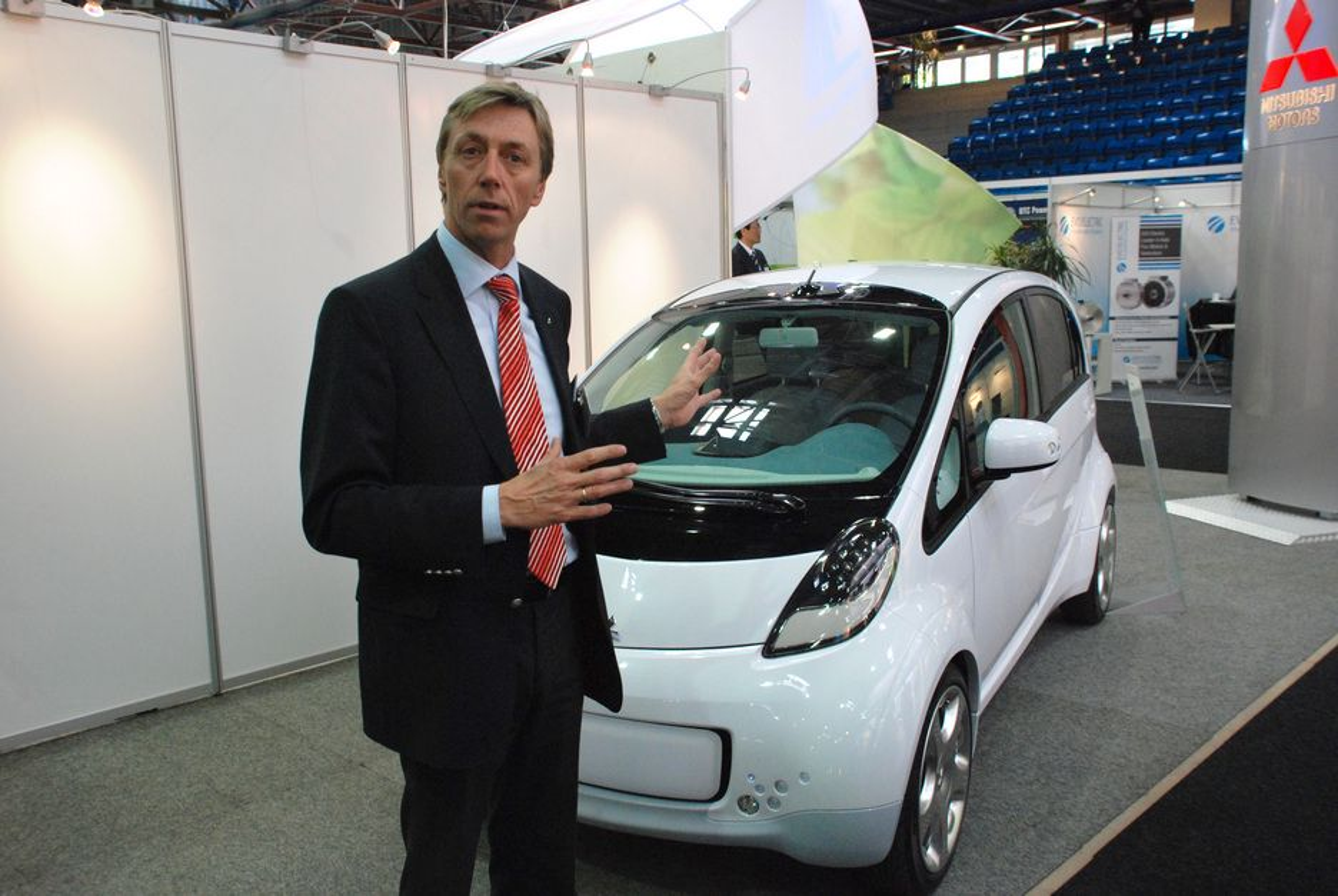 SKRYT AV NORGE: Bernt G. Jessen i Mitsubishis norske avdeling mener toppledelsen i selskapet ser til Norge. Bakgrunnen er gode norske støtteordninger for elbiler.