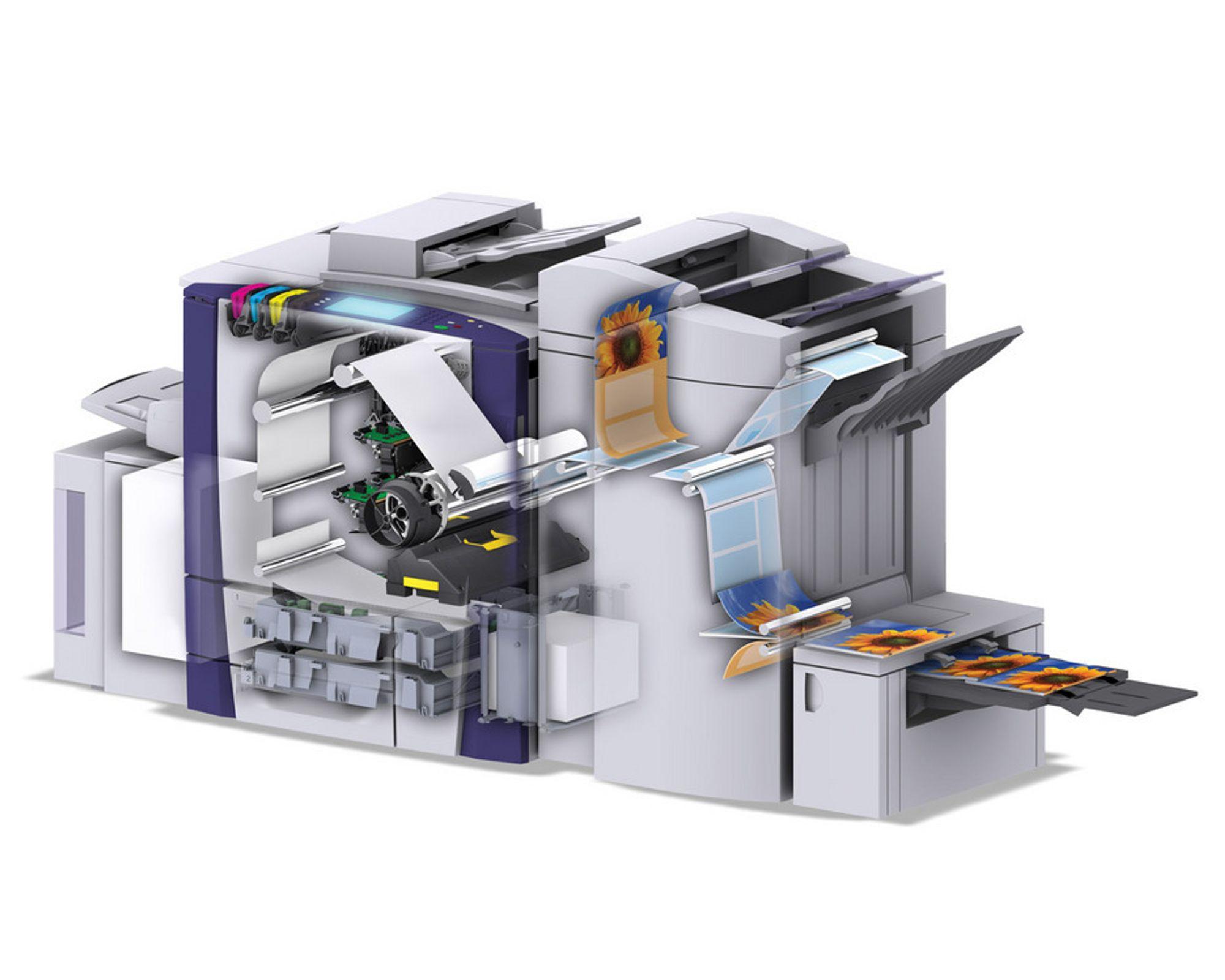 MEGA-CRAYON:Den nye voksskriveren til Xerox er mer miljøvennlig og snillere for lommeboka.