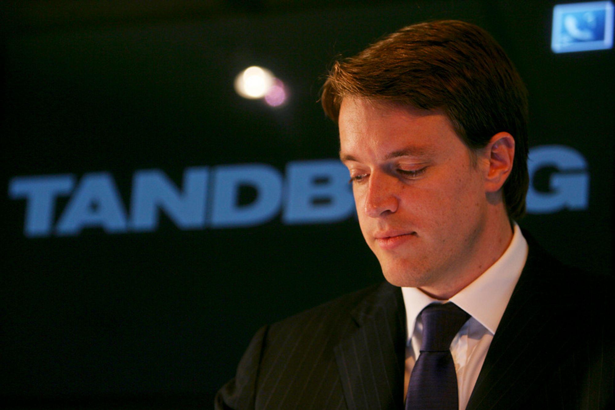 Tandbergs konsernsjef Fredrik Halvorsen.