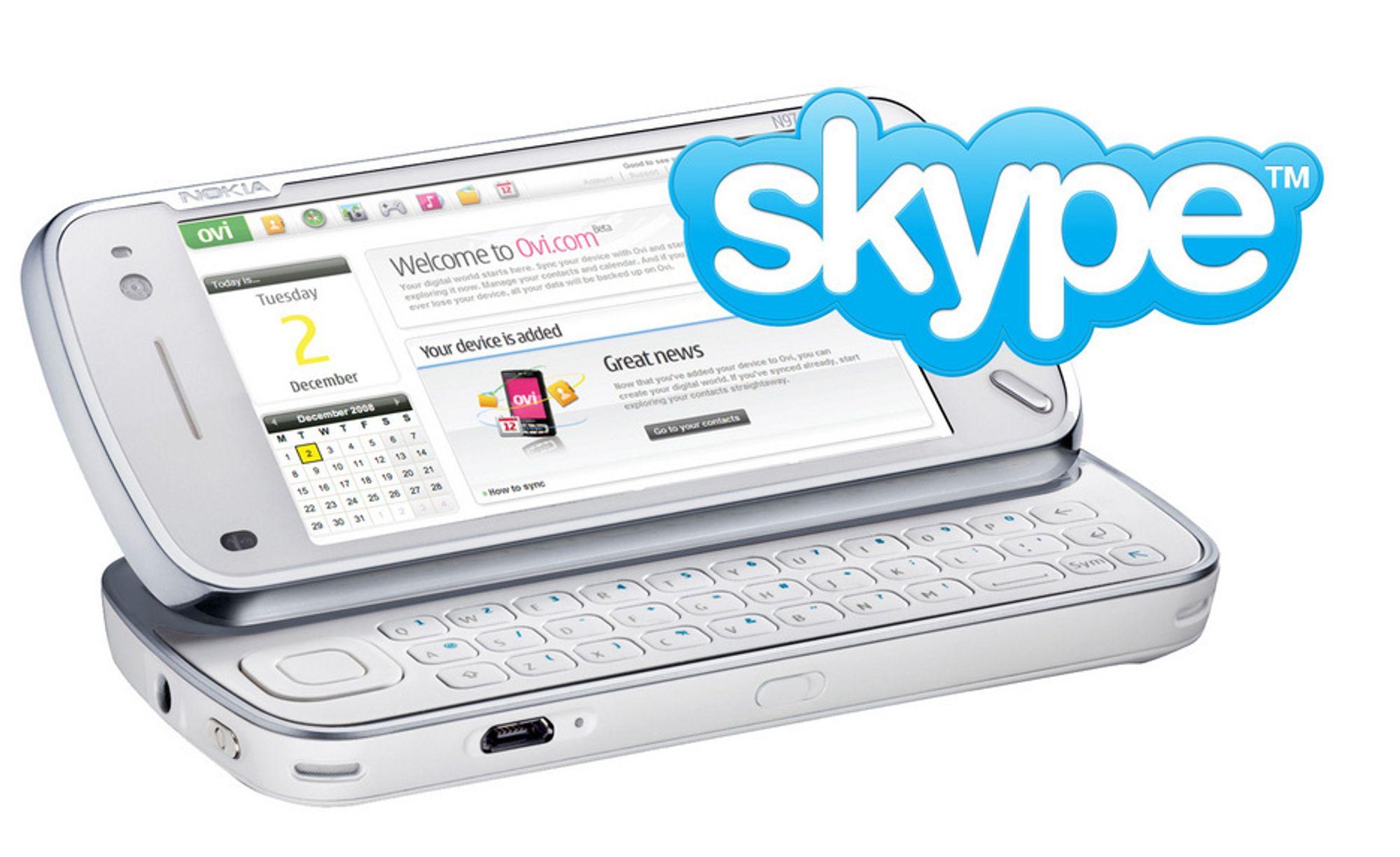 Nokia N97 blir den første Nokia-telefonen med Skype. Den kommer i tredje kvartal i år.