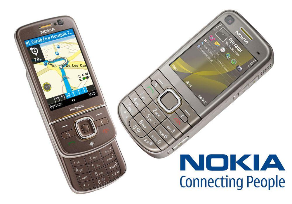 Nokia lanserer to nye telefoner; 6710 Navigator (t.v.) og 6720 Classic.
