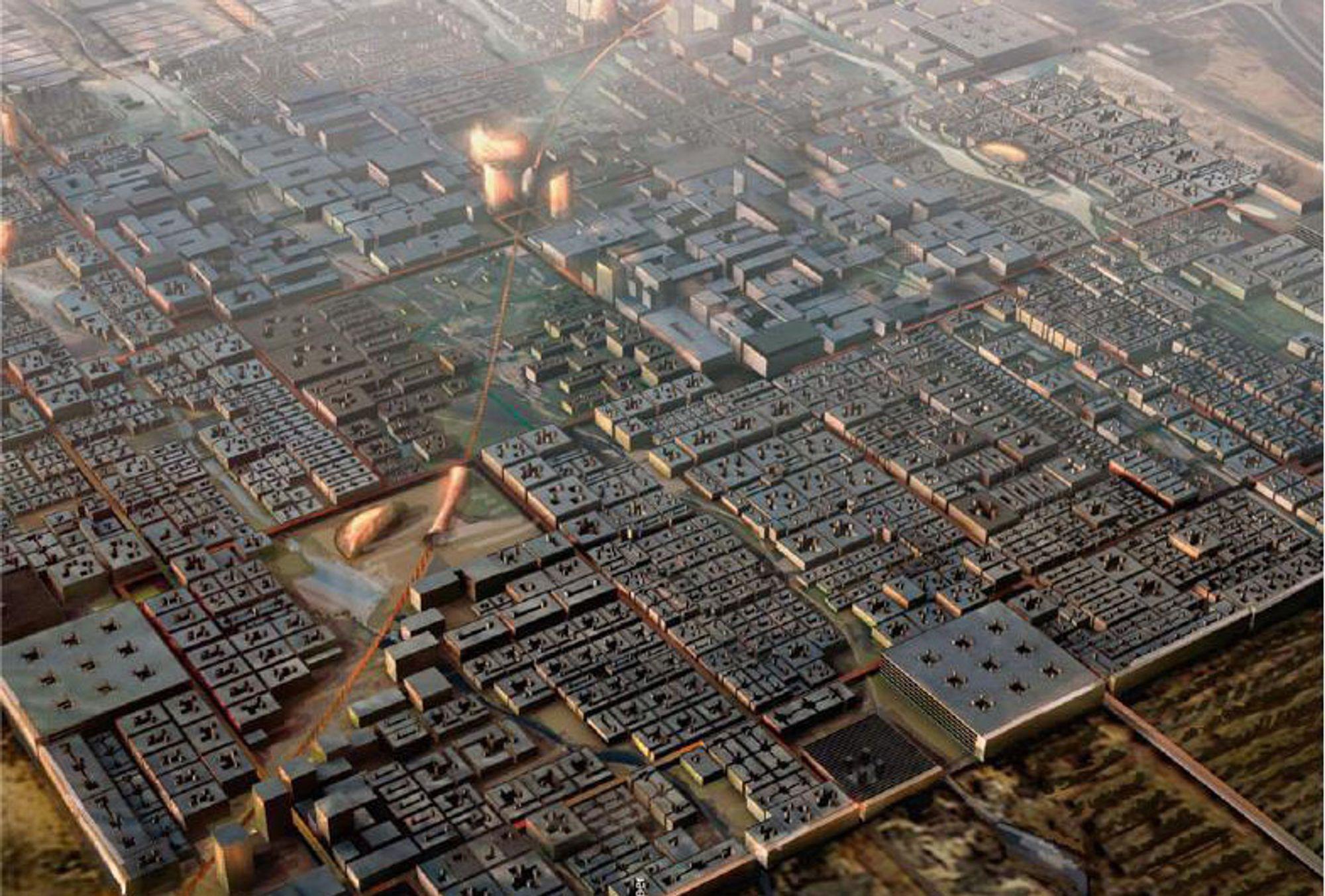 Tegning av Masdar City, slik den er ment å se ut. Svenske Cleanergy ligger an til å få en milliardkontrakt.