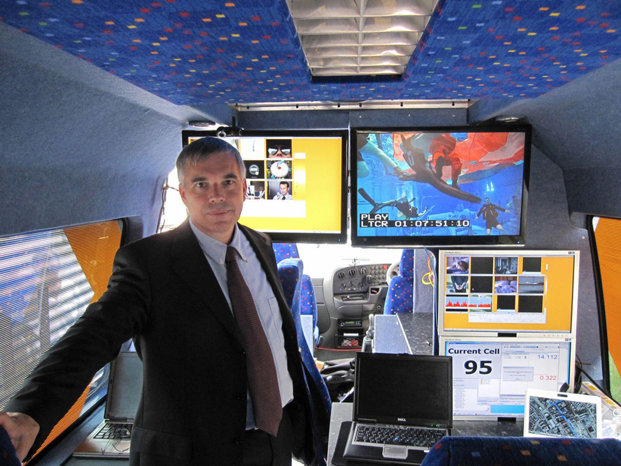 BARE I BUSSEN:LTE er ennå på demonstrasjonsnivå, men fremtidens busspassasjer trenger ikke bekymre seg for bitraten mener Motorolas Tim Weston.