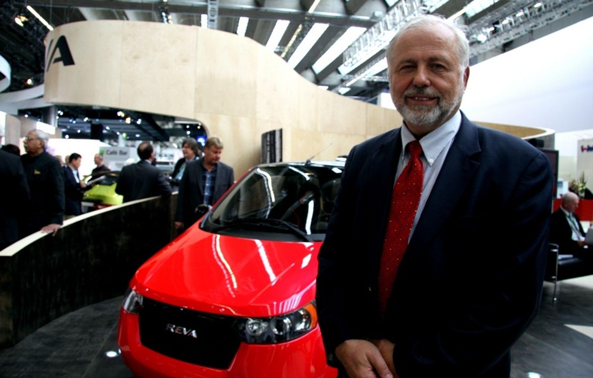 Jan-Olaf Willums var onsdag til stede under avdukingen av Revas nye elbilmodell.