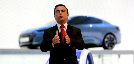 Carlos Ghosn, som er toppsjef i Renault-Nissan, hadde med seg fire nye elbilkonsepter til årets Frankfurtmesse.
