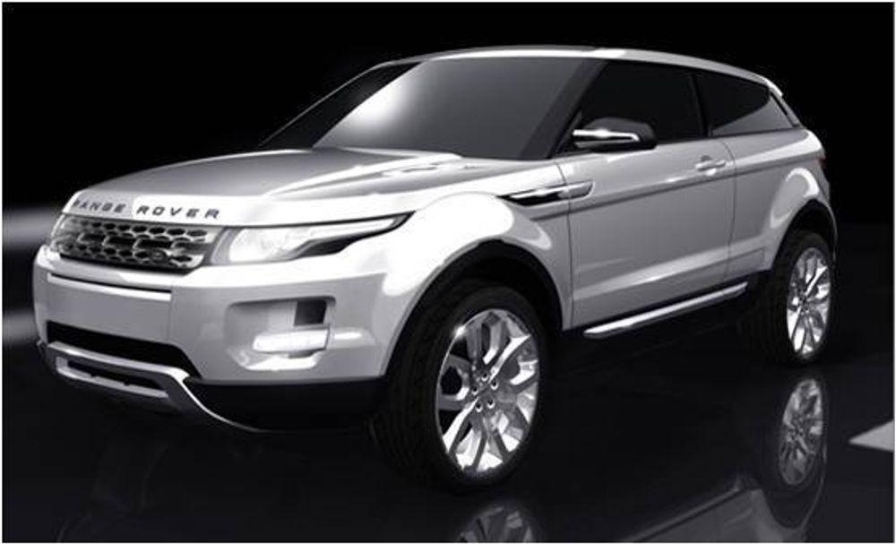 MER MILJØVENNLIG: Også Land Rover må tilpasse seg virkeligheten og introduserer en ny miljøvennlig modell i 2011, Range Rover LRX.