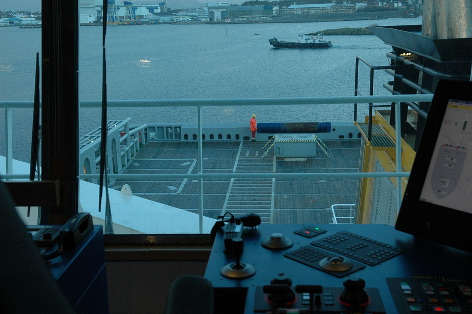 SIKKER: Arbeid på skip og drift og operasjon av skip kan innebære risiko.