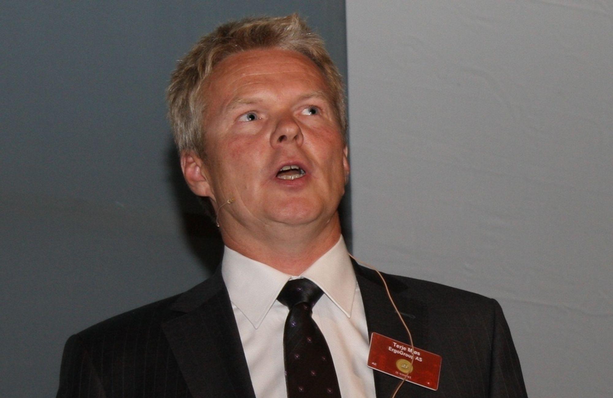 Størst: Ergo-sjef Terje Mjøs har solgt IT-løsning til et av landets største kundesentra.