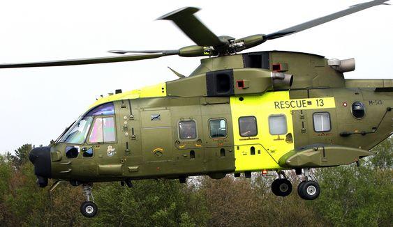 AW101 fra AgustaWestland fra den danske redningstjenesten.