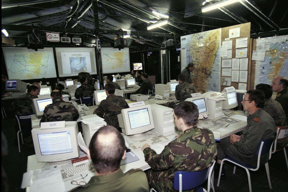 HOVEDKVARTER: Forsvaret og Geodata AS har undertegnet en rammeavtale for bruk av geografiske informasjonssystem (GIS). Forsvar i nettverk er på vei. FOTO: US ARMY