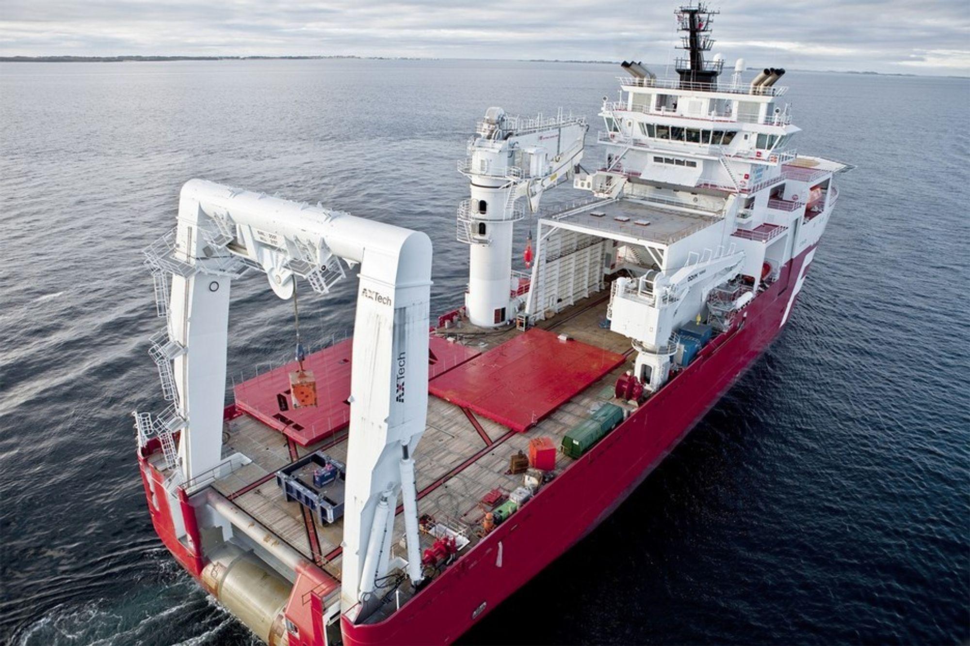 EN KÅRING: Far Samson er kåret til årets skip i det engelskspråklige Offshore Support Journal. Vinneren av norske Skipsrevyens kåring vil ikke bli annonsert før tirsdag 9. juni under Nor-Shipping på Lillestrøm.