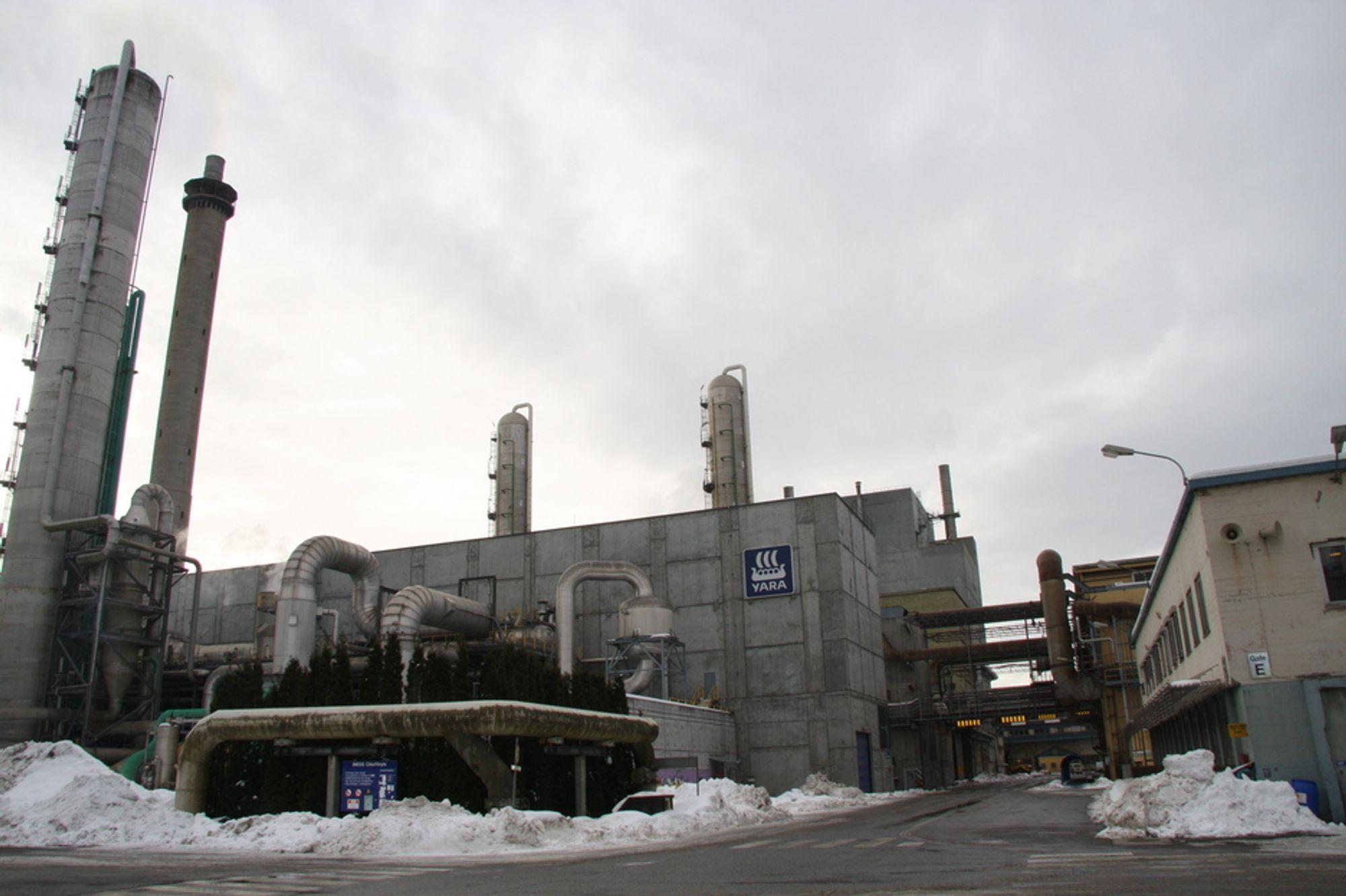 Porsgrunn, hvor Yara ligger, var en av kommunene som bidro til lavere klimagassutslipp i fjor.