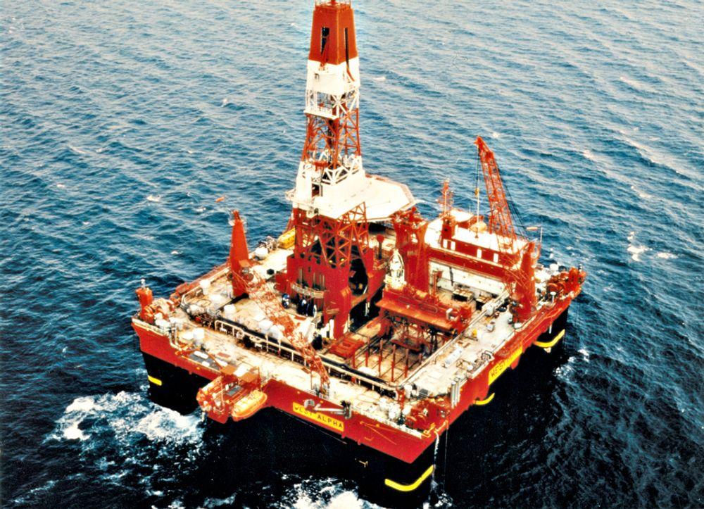 FANT HYDROKARBONER: StatoilHydro fant hydrokarboner nordvest for Njord med boreriggen West Alpha. Nå skal den bore et sidesteg for å bestemme størrelsen på funnet.