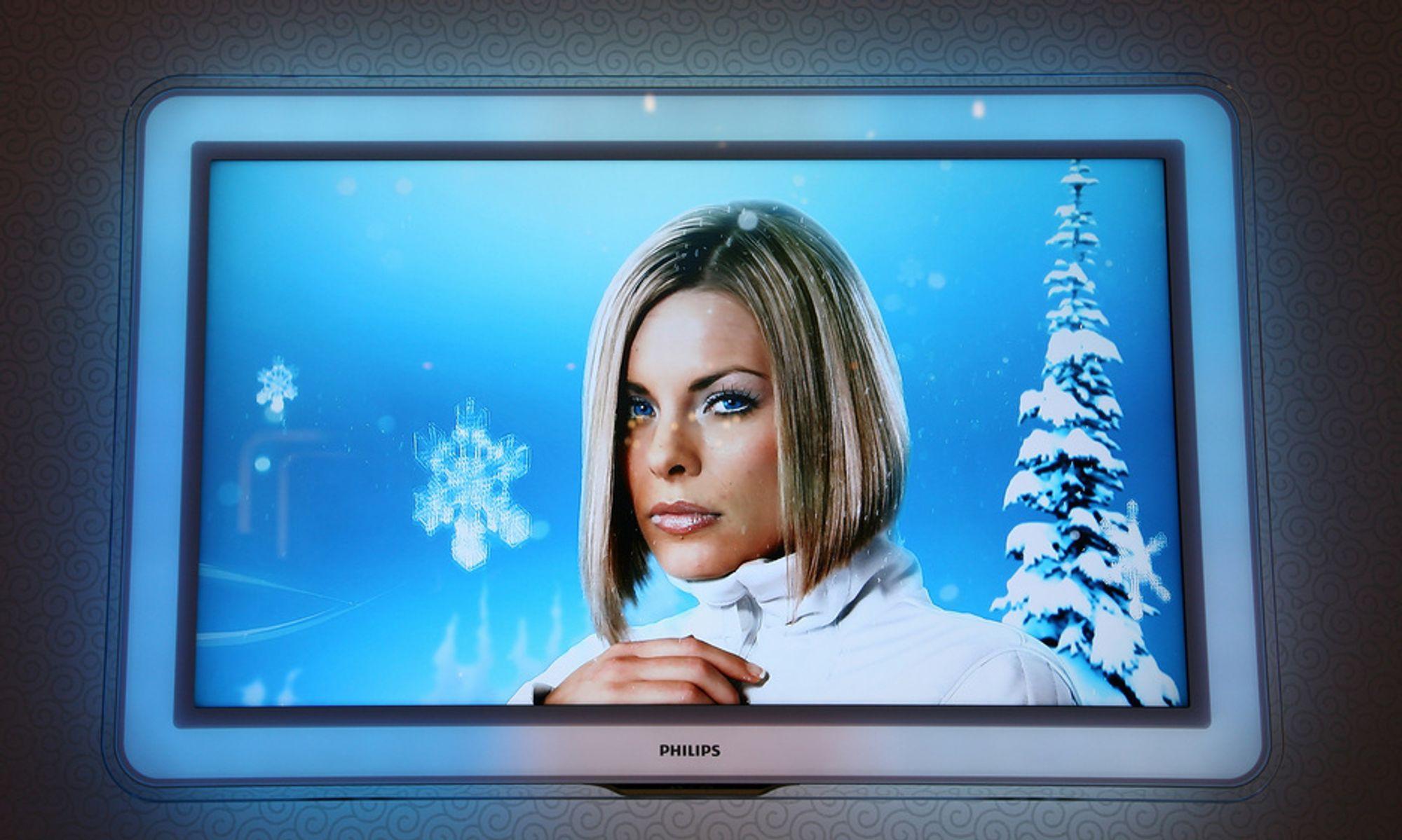Norge er hekta på HDTV. Her Philips' Aurea-TV.