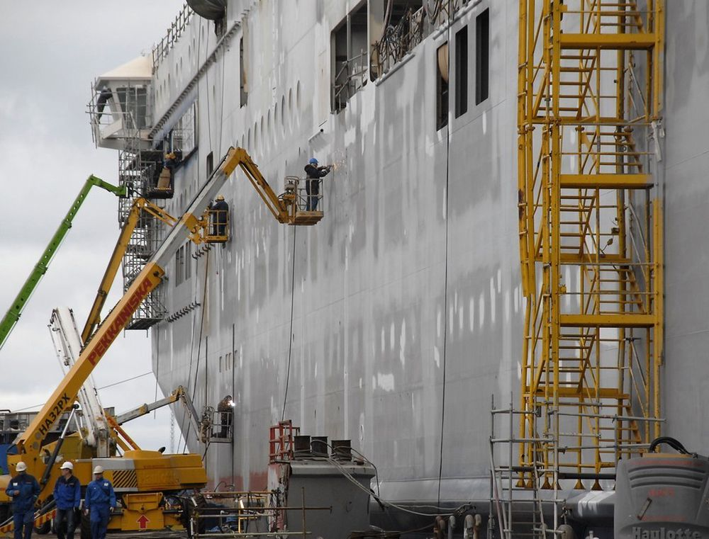 LÅNETØRKE: Mellom 10 000 og 12 000 arbeidsplasser i norsk verftsindustri er i fare, mener Norges Rederiforbund.