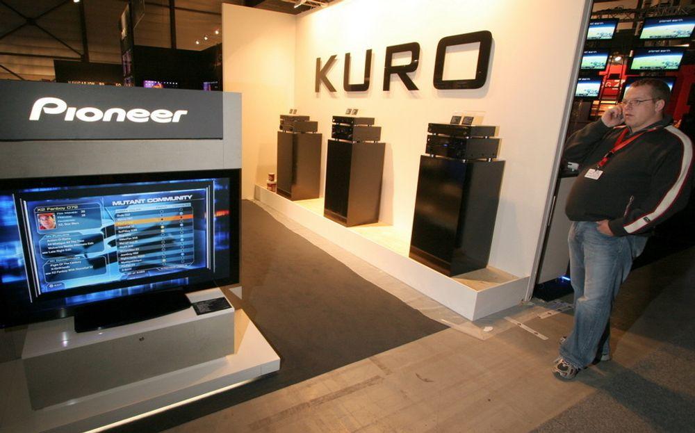 ILLE: Pioneers plasmavinner Kuro kan forsvinne fra markedet.