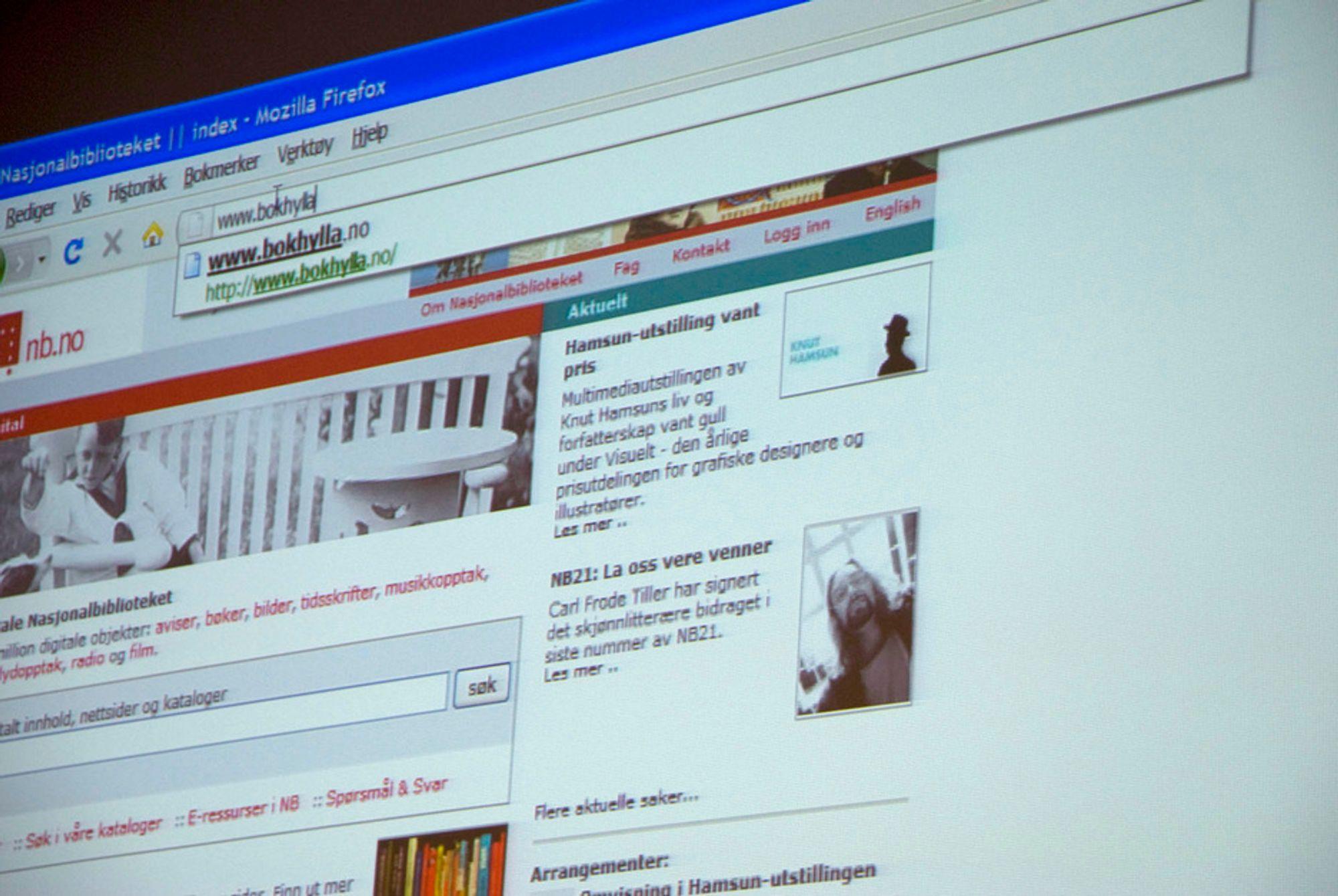 Nasjonalbiblioteket lanserte digital bokhylle i dag.