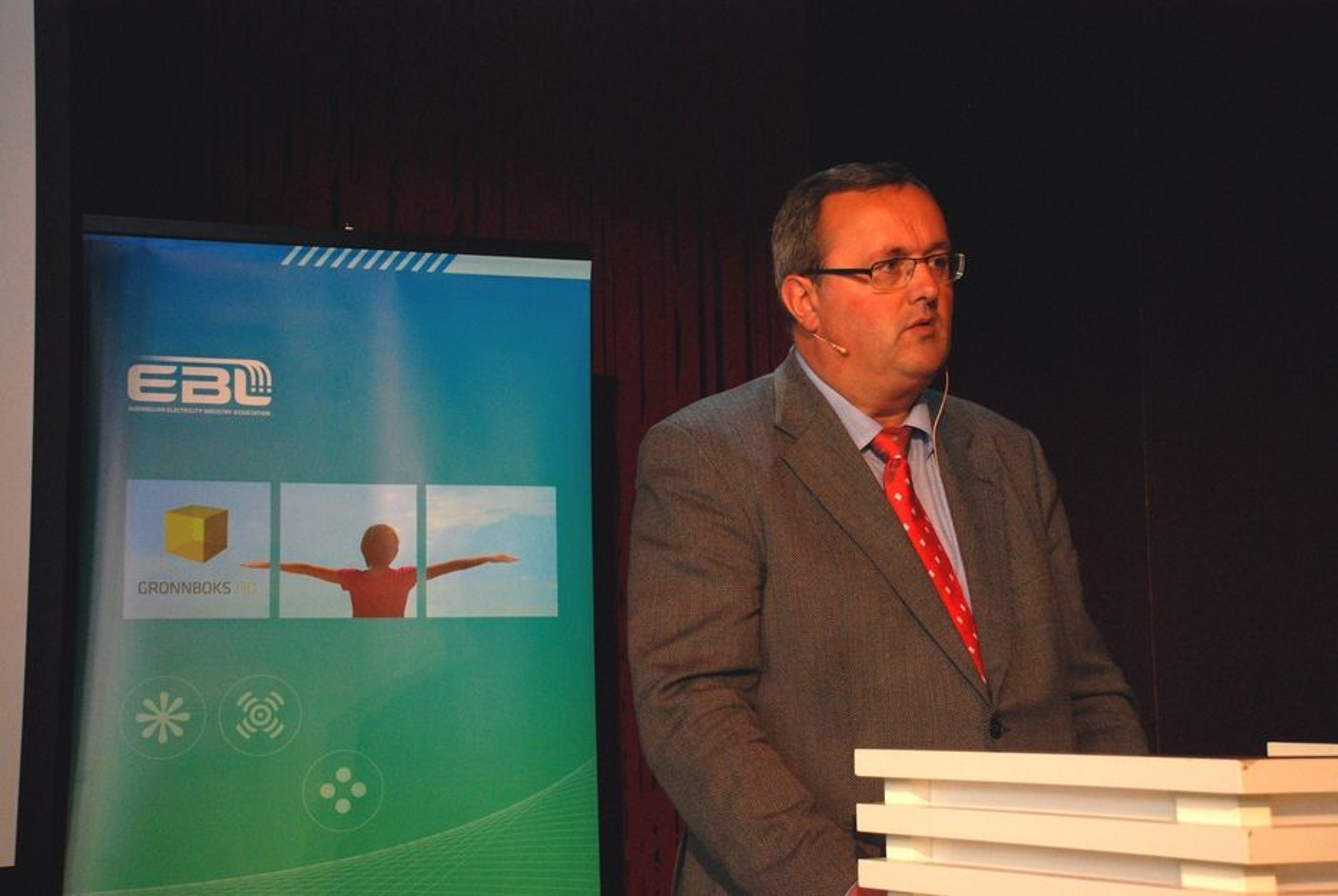 EBL-direktør Steinar Bysveen. Bildet er tatt i forbindelse med EBL-rapporten Den grønne ledertrøya 4. mai 2009.