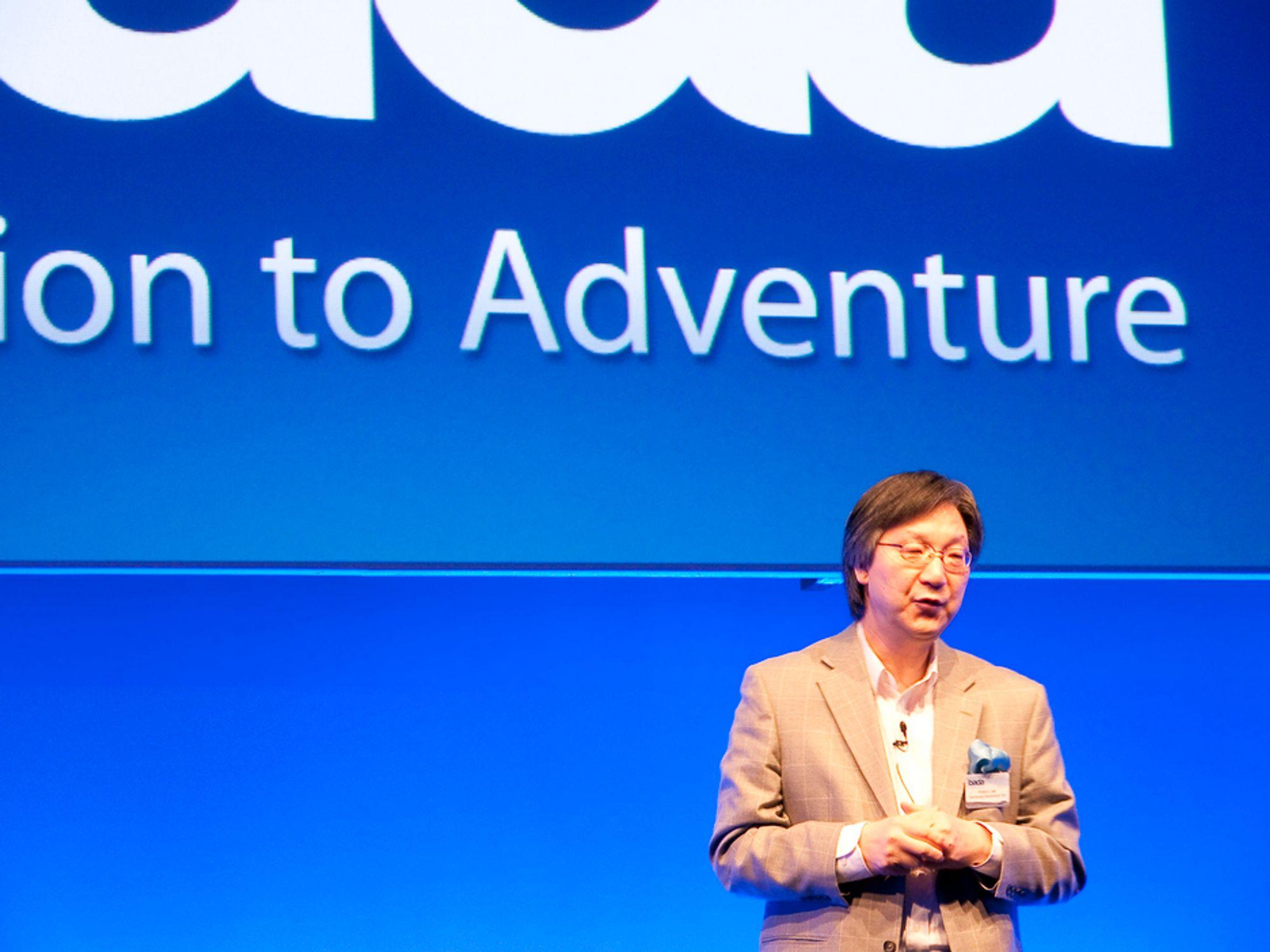 Samsungs nye Badabaserte mobiltelefoner skal bringe smartmobiler ut til alle og sette en ny standard for brukervennlighet, lover Samsungs sjef for medialøsninger, dr. Hooso Lee.