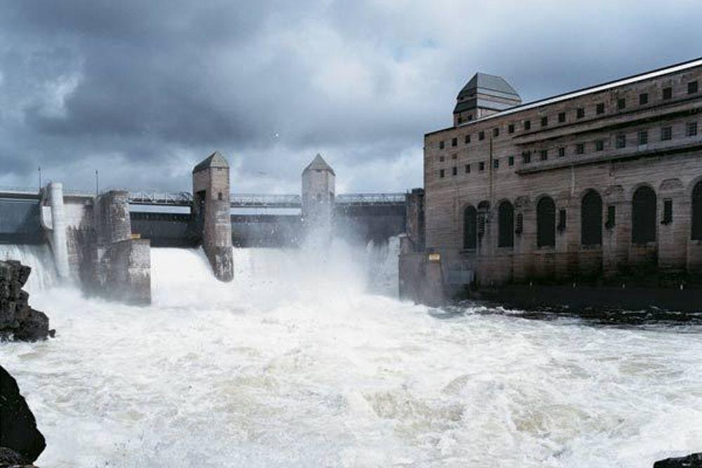 Solbergfoss kraftverk.