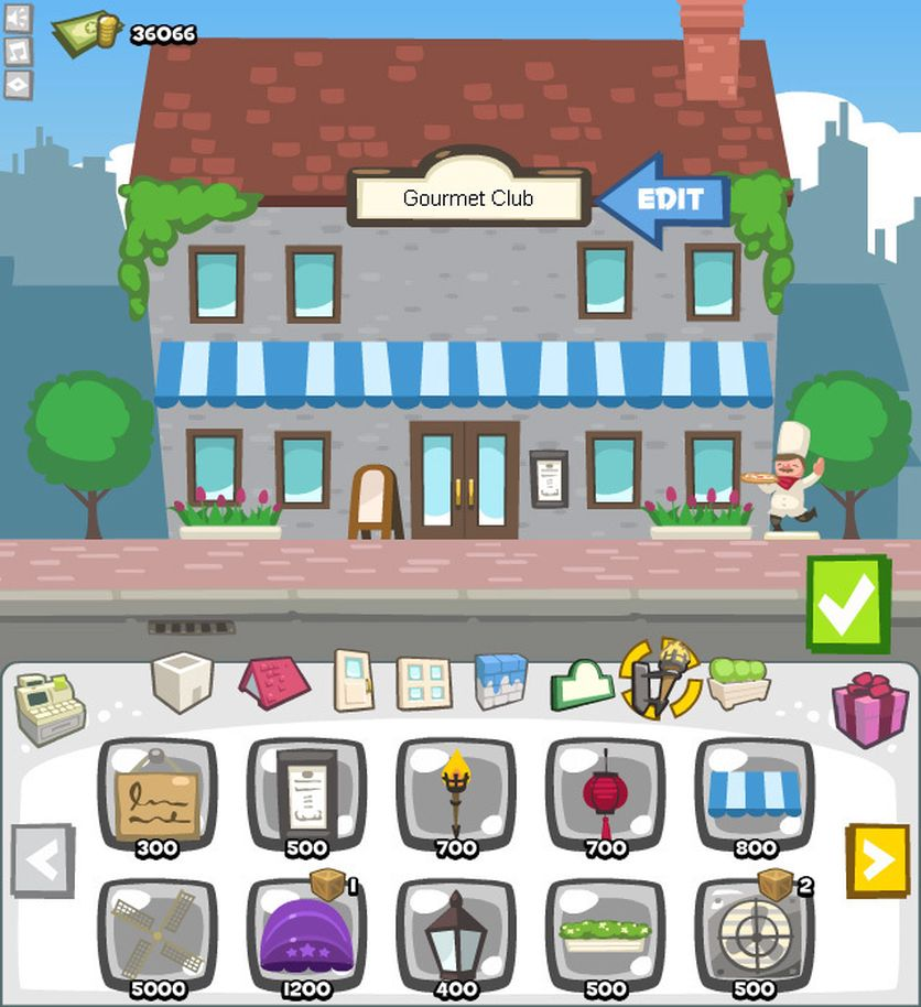 """Farsotten """"Restaurant City"""" er blant Facebook-spillene til Playfish."""