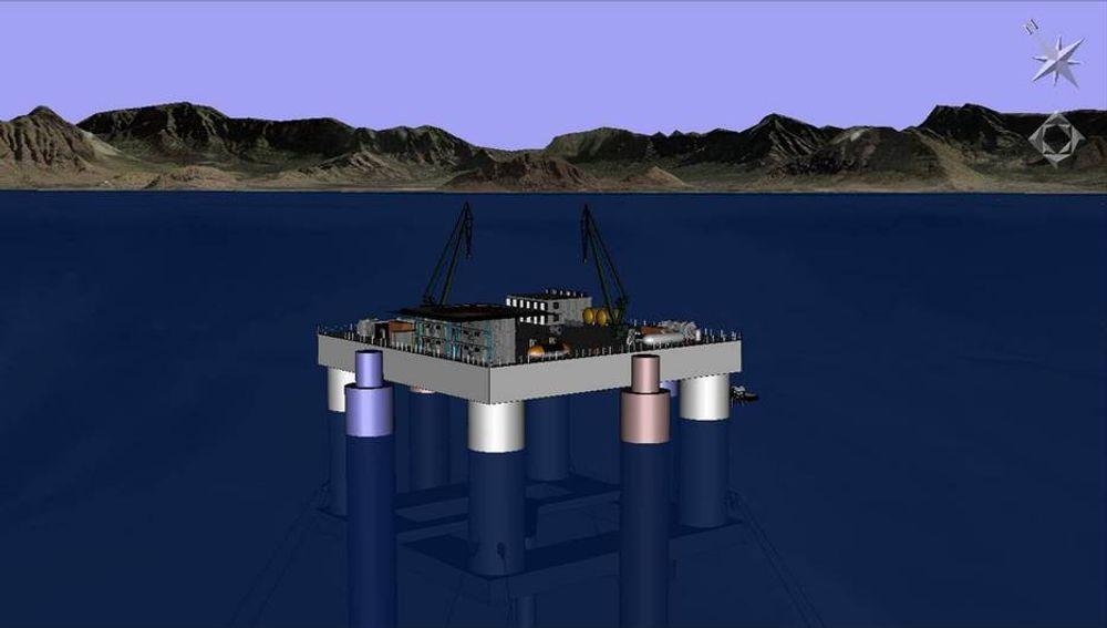 HALVT NEDSEKBAR: Lockheed Maryin har stor trom på dette  OTEC-konseptet.