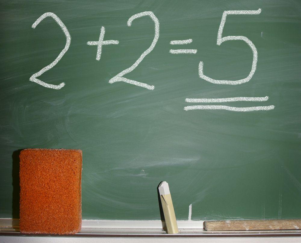 TALL: Men matematikk er et unntak.