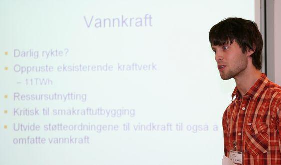 Jostein Jerkø, en av de unge forskerne i tankesmia for miljøvennlige energiløsninger.
